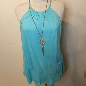 First Love Teal Tank Top Necklace